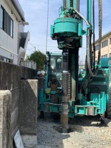 カナリー豊中工場新築工事 杭打ち工事